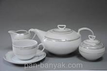 Чайный сервиз Cmielow Ivonne 328 на 6 персон 15 предметов фарфор (E328)