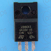 MOSFET N-канала 800В 14А 300мОм STm STF15N80K5 TO220F