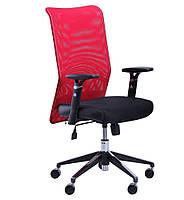 Кресло Аэро Люкс сиденье Сетка черная, Неаполь N-20/спинка Сетка красная БЕСПЛАТНАЯ ДОСТАВКА !