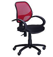 Кресло Байт/АМФ-5 сиденье Сетка черная/спинка Сетка красная БЕСПЛАТНАЯ ДОСТАВКА !