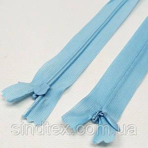 SALE потайная молния 35 см голубой цвет (SALE-0383ПМ)