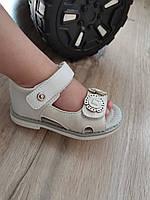 Босоножки детские 21-25 (14, 2-16,8 см) на девочку сандали Белые