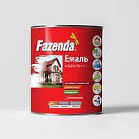 """Эмаль краска """"FAZENDA"""" ПФ-115 (0,9кг) коричневый"""