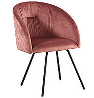 Кресло поворотное Sacramento черный/велюр розовый антик БЕСПЛАТНАЯ ДОСТАВКА !