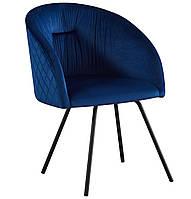 Кресло поворотное Sacramento черный/велюр темно-синий БЕСПЛАТНАЯ ДОСТАВКА !