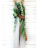 Пляжна накидка з принтом пальм для жінок, фото 3