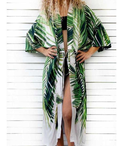 Пляжна накидка з принтом пальм для жінок