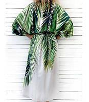 Пляжна накидка з принтом пальм для жінок, фото 2