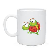 Нанесение изображения на чашки, кружка Влюбленные жуки