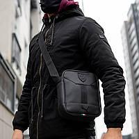 Мужская кожаная сумка через плечо Puma Formula