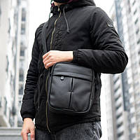 Сумка мессенджер через плечо Nike Edison KJ 006 кожаная