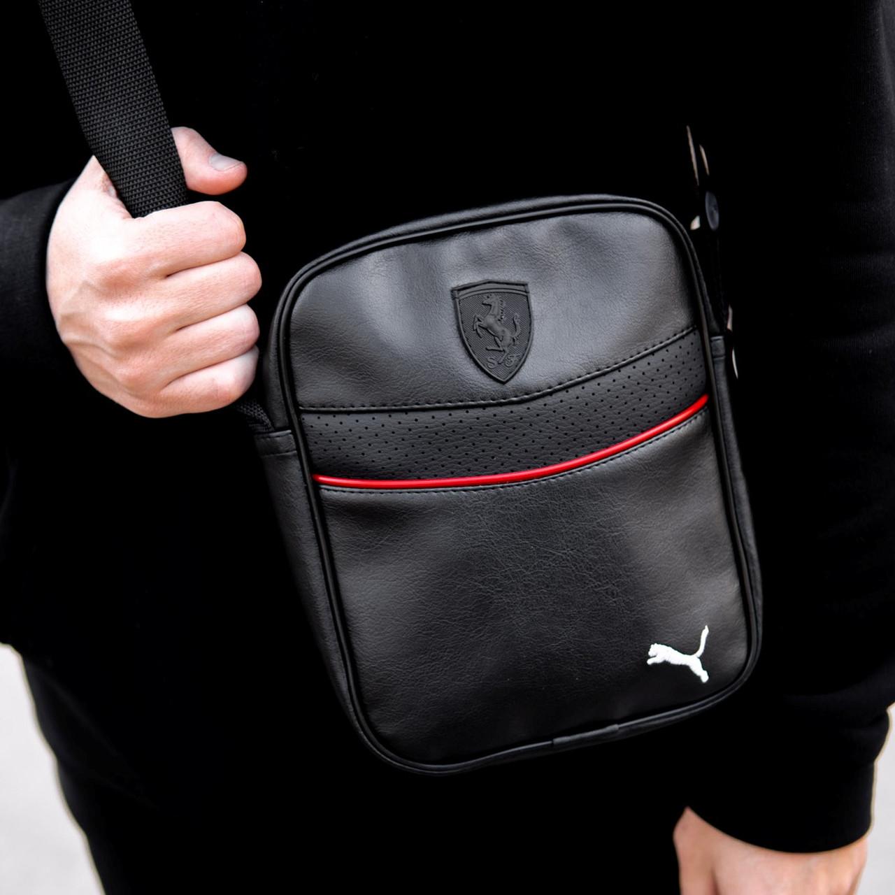 Чоловіча шкіряна сумка через плече Puma RV