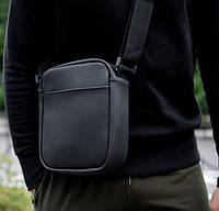 Мужская кожаная сумка Static через плечо