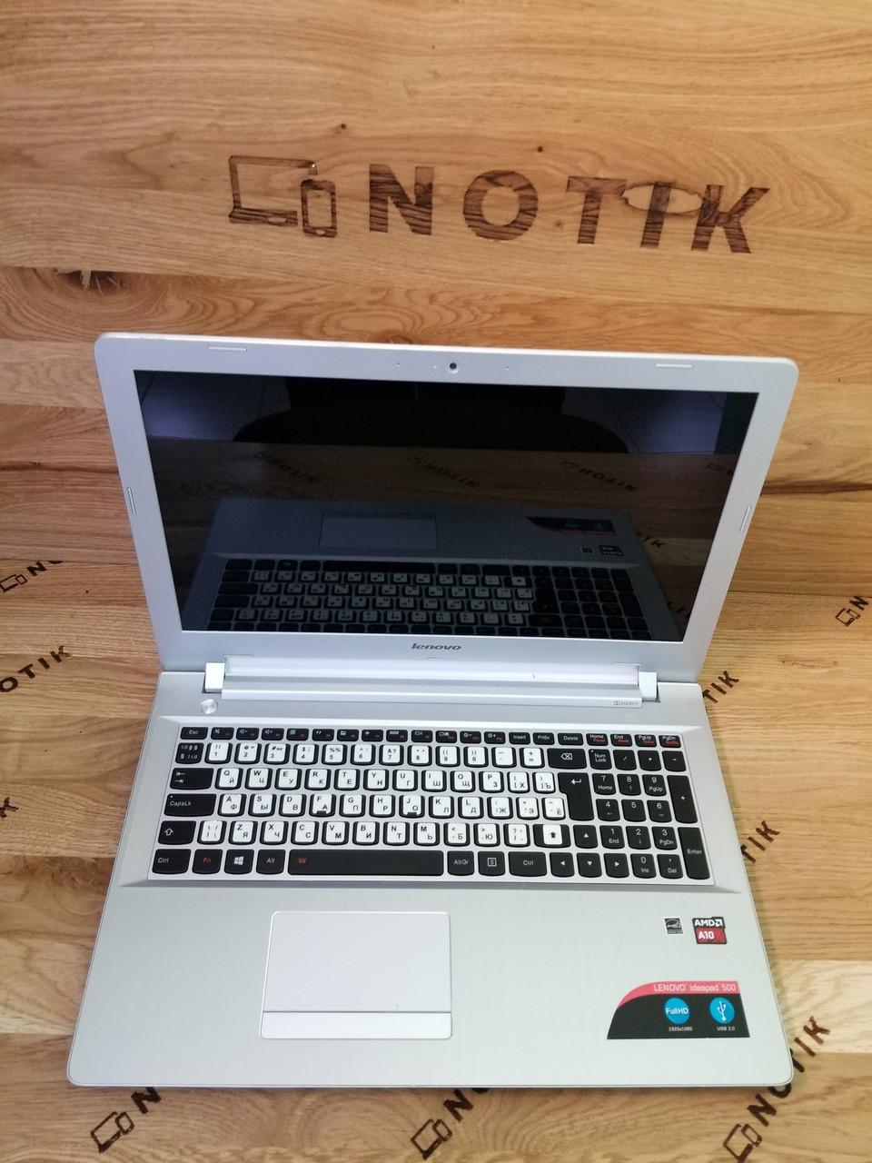 Lenovo IdeaPad 500-15ACZ AMD A10-8700p 3.2GHz/8Gb/120 Gb SSD/AMD Radeon R6/ HD 1366*768/підсвітка клавіатури