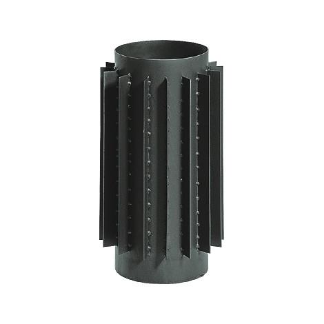 Труба радіатор для димоходу KAISER PIPES (2мм) 0,5 м Ø160