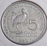 Монета Бурунди 5 франков 2014 г.