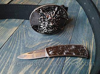 Фирменный Кожаный Нож ремень AE-Dragon