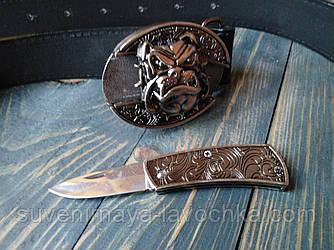 Кожаный Нож ремень AE-Byldog