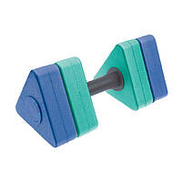 Гантелі для аквааеробіки трикутні 1шт MadWave Triangle Bar Float M082601 (EVA, р-р 31х14,5см, кольори в