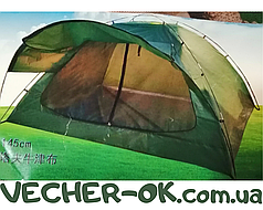 Палатка 4-х местная туристическая с козырьком 240х210х145 см.