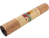 Коврик World Sport для йоги и фитнеса TPE, пробка 183х61 см ,чехол в подарок, фото 3