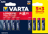 Батарейки Varta Max Power (Max Tech) AAA BL8 Alkaline 1.5V (4703) (8/160)