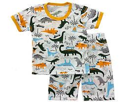 Летняя пижама для мальчика Динозары