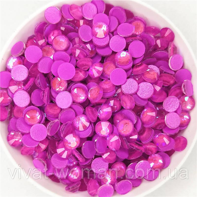 Стрази Neon Dark Purple AB ss16 холодної фіксації. Ціна за 144 шт