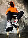"""Кросівки чоловічі Air Jordan 1 High Retro """"Light Smoke Grey"""", сіро-червоні, фото 4"""