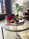 """Кросівки чоловічі Air Jordan 1 High Retro """"Light Smoke Grey"""", сіро-червоні, фото 7"""