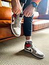 """Кросівки чоловічі Air Jordan 1 High Retro """"Light Smoke Grey"""", сіро-червоні, фото 9"""