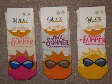 Набір 3 шт. Шкарпетки дитячі укорочені бавовняні Bross