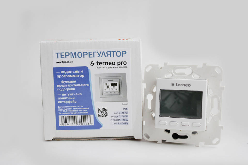 Автоматический терморегулятор Terneo pro unic с монтажной коробкой