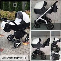 Универсальная детская коляска трансформер 2 в 1 ADELLE  бело-черная