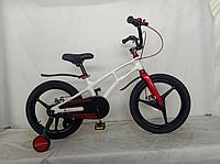 Велосипед двоколісний полегшений 16 дюймів Crosser Magnesium MAGN BIKE сталева вилка білий