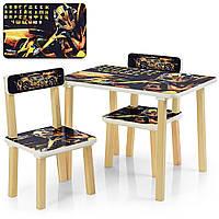 Детский стол с двумя стульчиками Bambi 507-54 Трансформеры