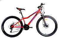 Спортивний гірський велосипед 26 дюймів 13 рама Azimut Forest D червоний