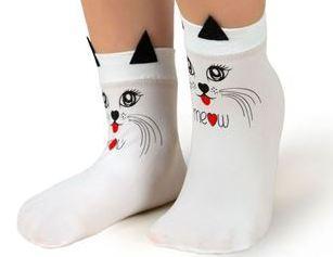 Шкарпетки дитячі капронові Bross з малюнком кішки