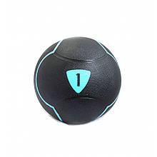 Медбол Livepro SOLID MEDICINE BALL LP8110-1 чорний 1кг