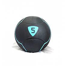 Медбол Livepro SOLID MEDICINE BALL LP8110-5 чорний 5кг
