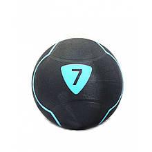 Медбол Livepro SOLID MEDICINE BALL LP8110-7 чорний 7кг