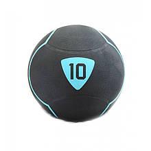 Медбол Livepro SOLID MEDICINE BALL LP8110-10 чорний 10кг
