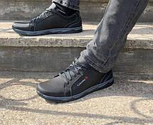 Кросівки туфлі чоловічі чорні 44 розмір, фото 2