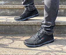 Кросівки туфлі чоловічі чорні 44 розмір, фото 3