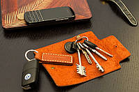 Ключница кожаная  для коротких и длинных ключей
