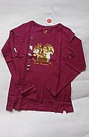 Реглан-лонгслив для девочки 152 бордо белка Coolclub, фото 1