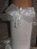 Набор 3 шт.Носкис рельефным рисунком Bross с атласным бантом и бусинками, фото 2