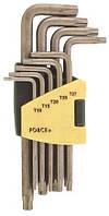 Набор ключей FORCE 5098LT Torx Г-образных с отверстием длинных 9 пр. (Т10-Т50)