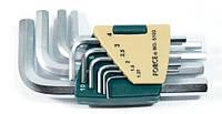 Набор ключей FORCE 5102 6-гр. (HEX) Г-обр 10 пр. (1.27-10 мм)