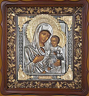 Серебряные иконы. Иверская Пресвятая Богородица 42 см * 39 см